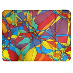 Colorful Miscellaneous Shapes Samsung Galaxy Tab 7  P1000 Flip Case by LalyLauraFLM