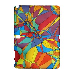 Colorful Miscellaneous Shapes Samsung Galaxy Note 10 1 (p600) Hardshell Case by LalyLauraFLM