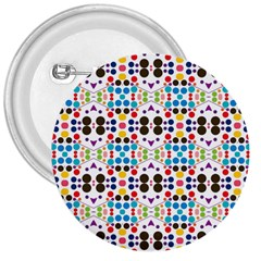 Colorful Dots Pattern 3  Button by LalyLauraFLM
