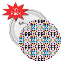Colorful Dots Pattern 2 25  Button (10 Pack) by LalyLauraFLM