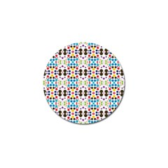 Colorful Dots Pattern Golf Ball Marker by LalyLauraFLM