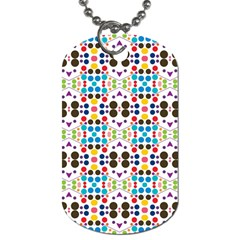 Colorful Dots Pattern Dog Tag (two Sides)