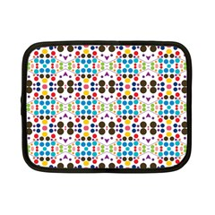 Colorful Dots Pattern Netbook Case (small) by LalyLauraFLM