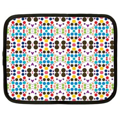 Colorful Dots Pattern Netbook Case (xl) by LalyLauraFLM