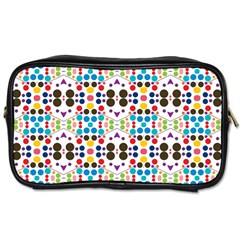 Colorful Dots Pattern Toiletries Bag (one Side) by LalyLauraFLM