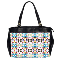 Colorful Dots Pattern Oversize Office Handbag (2 Sides) by LalyLauraFLM