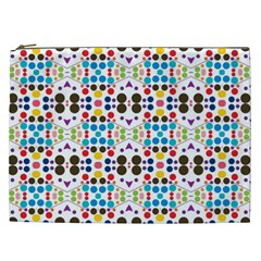 Colorful Dots Pattern Cosmetic Bag (xxl) by LalyLauraFLM
