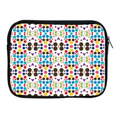 Colorful Dots Pattern Apple Ipad 2/3/4 Zipper Case by LalyLauraFLM