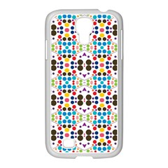 Colorful Dots Pattern Samsung Galaxy S4 I9500/ I9505 Case (white) by LalyLauraFLM
