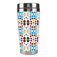Colorful Dots Pattern Stainless Steel Travel Tumbler by LalyLauraFLM