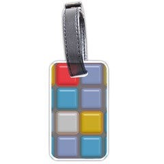 Shiny Squares Pattern Luggage Tag (two Sides) by LalyLauraFLM