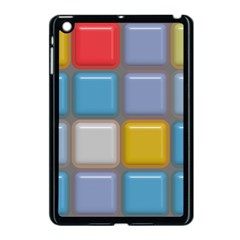 Shiny Squares Pattern Apple Ipad Mini Case (black) by LalyLauraFLM