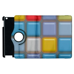 Shiny Squares Pattern Apple Ipad 3/4 Flip 360 Case by LalyLauraFLM