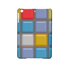 Shiny Squares Pattern Apple Ipad Mini 2 Hardshell Case by LalyLauraFLM