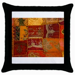 India Print Realism Fabric Art Throw Pillow Cases (black) by TheWowFactor