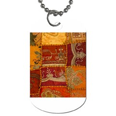 India Print Realism Fabric Art Dog Tag (two Sides) by TheWowFactor