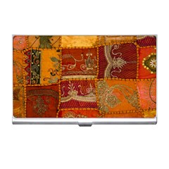 India Print Realism Fabric Art Business Card Holders by TheWowFactor