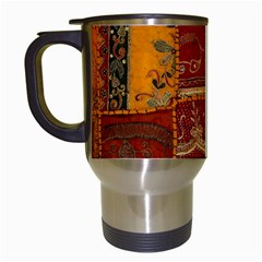 India Print Realism Fabric Art Travel Mugs (white) by TheWowFactor