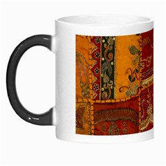 India Print Realism Fabric Art Morph Mugs by TheWowFactor