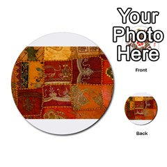 India Print Realism Fabric Art Multi Purpose Cards (round)  by TheWowFactor