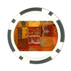 India Print Realism Fabric Art Poker Chip Card Guards (10 Pack)  by TheWowFactor