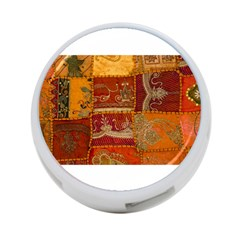 India Print Realism Fabric Art 4 Port Usb Hub (one Side) by TheWowFactor