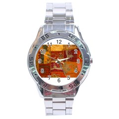 India Print Realism Fabric Art Stainless Steel Men s Watch by TheWowFactor