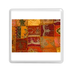 India Print Realism Fabric Art Memory Card Reader (square)  by TheWowFactor