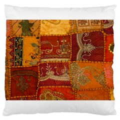 India Print Realism Fabric Art Large Cushion Cases (two Sides)  by TheWowFactor