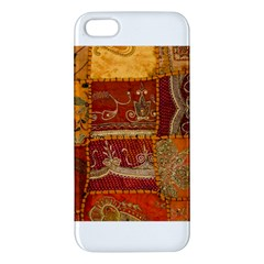 India Print Realism Fabric Art Apple Iphone 5 Premium Hardshell Case by TheWowFactor
