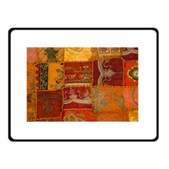 India Print Realism Fabric Art Double Sided Fleece Blanket (small)  by TheWowFactor