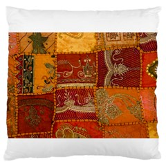 India Print Realism Fabric Art Large Flano Cushion Cases (two Sides)  by TheWowFactor
