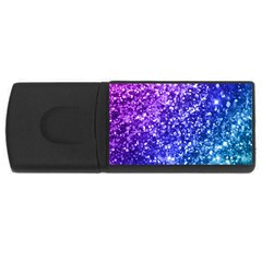Glitter Ocean Bokeh Usb Flash Drive Rectangular (4 Gb)  by KirstenStar