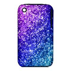 Glitter Ocean Bokeh Apple Iphone 3g/3gs Hardshell Case (pc+silicone) by KirstenStar