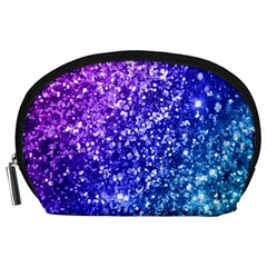 Glitter Ocean Bokeh Accessory Pouches (large)  by KirstenStar