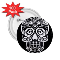 Skull 2 25  Buttons (100 Pack)  by ImpressiveMoments