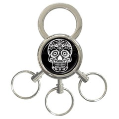Skull 3-ring Key Chains
