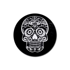 Skull Rubber Round Coaster (4 Pack)