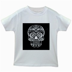 Skull Kids White T Shirts