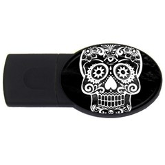Skull Usb Flash Drive Oval (2 Gb)  by ImpressiveMoments