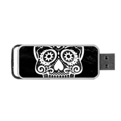 Skull Portable Usb Flash (two Sides)