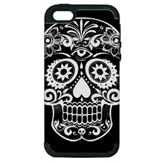 Skull Apple Iphone 5 Hardshell Case (pc+silicone)