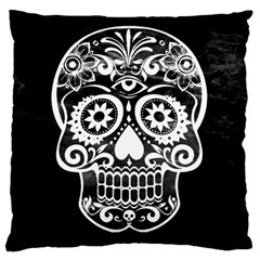Skull Large Flano Cushion Cases (two Sides)