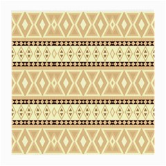 Fancy Tribal Border Pattern Beige Medium Glasses Cloth (2 Side) by ImpressiveMoments