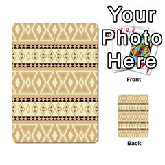 Fancy Tribal Border Pattern Beige Multi-purpose Cards (rectangle)