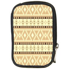 Fancy Tribal Border Pattern Beige Compact Camera Cases by ImpressiveMoments