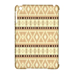 Fancy Tribal Border Pattern Beige Apple Ipad Mini Hardshell Case (compatible With Smart Cover) by ImpressiveMoments