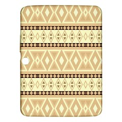 Fancy Tribal Border Pattern Beige Samsung Galaxy Tab 3 (10 1 ) P5200 Hardshell Case
