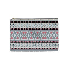 Fancy Tribal Border Pattern Soft Cosmetic Bag (medium)  by ImpressiveMoments