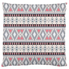 Fancy Tribal Border Pattern Soft Large Cushion Cases (one Side)  by ImpressiveMoments